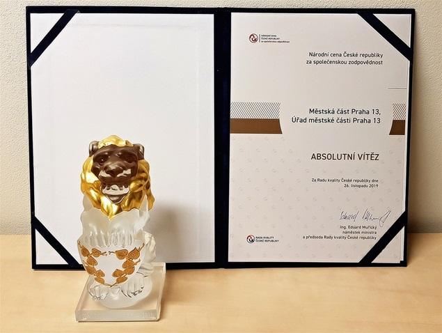 Národní cena České republiky za společenskou odpovědnost 2019